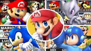 Evolution of All Characters in Super Smash Bros (1999-2018)