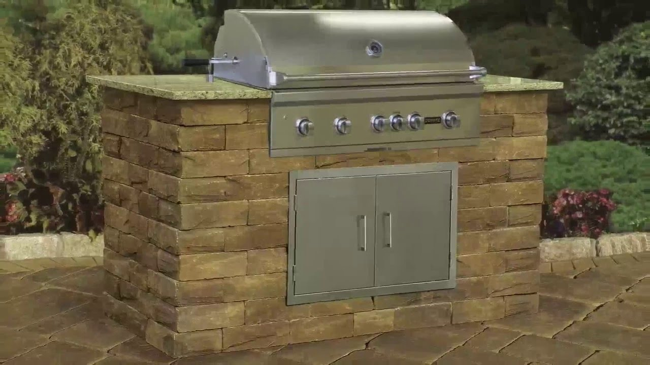 Grill Modules Cambridge Pavingstones Outdoor Living Solutions With Armortec