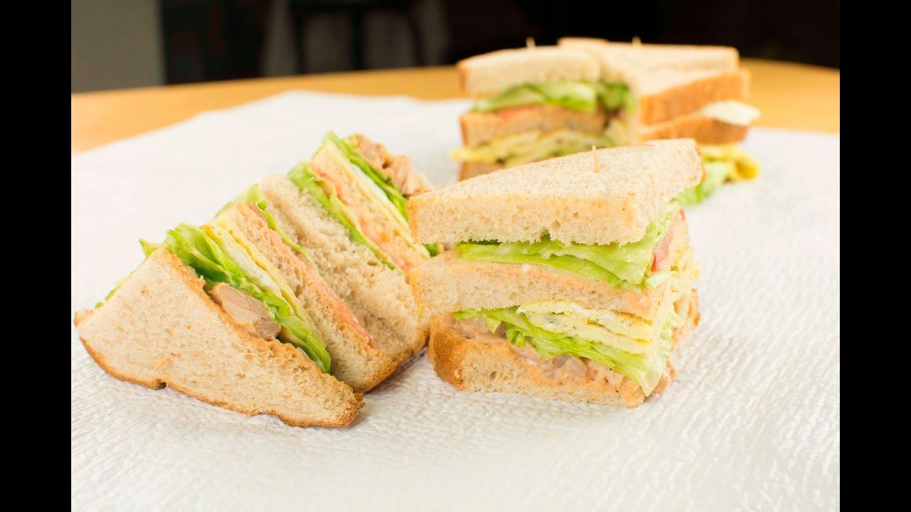 How To Make A Super Easy Club Sandwich Recipe Chef Lola S Kitchen