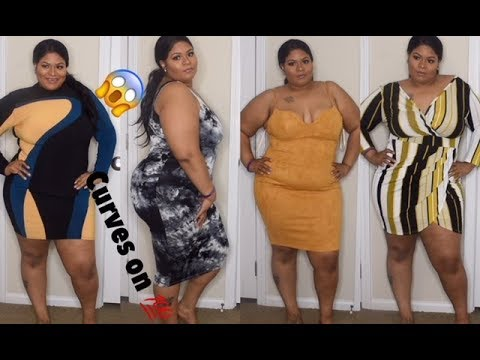 97d3a279bf5b Fashion nova dress gave me the body of my dreams plus size curvy girl try  on haul