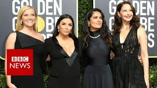 Golden Globes 2018: Why stars wore black on the red carpet - BBC News