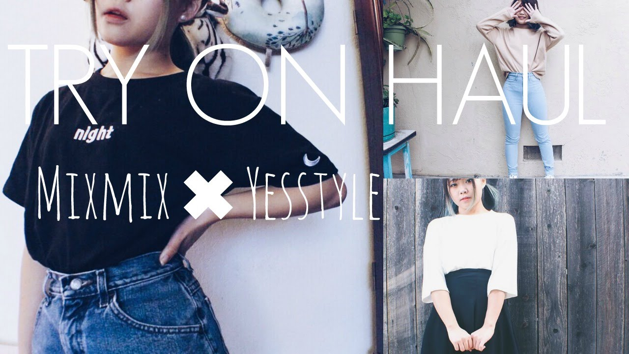 Mixxmix and yesstyle try on haul youtube Yes style japanese fashion