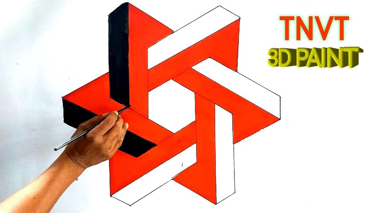 Ảo ảnh 3D vẽ tranh tường nghệ thuật |illusion 3D painting wall art