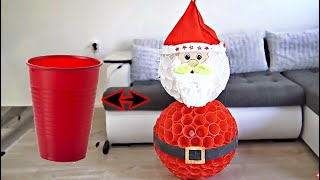 DIY Santa Claus from CUPS | Christmas decor
