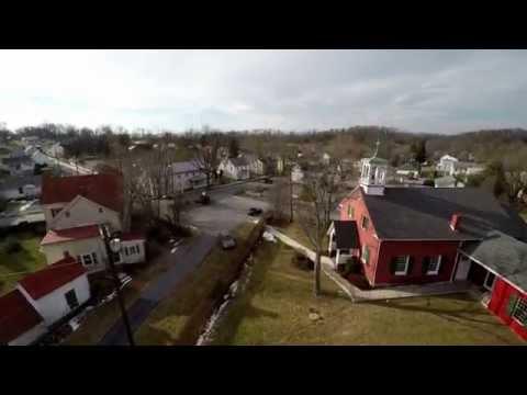 Hedgesville, West Virginia aerial views (4K)