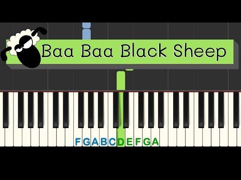 Easy Piano Tutorial: Baa Baa Black Sheep with free sheet music