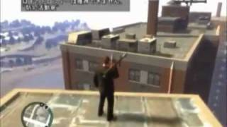 [GTAⅣ・ゆっくり実況プレイ]ロケランでビルからビルへ飛ぶ
