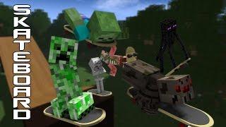 Monster School: Skateboarding - Minecraft Animation