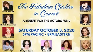 THE FABULOUS CHICKIES in Concert ~ A Benefit for THE ACTORS FUND