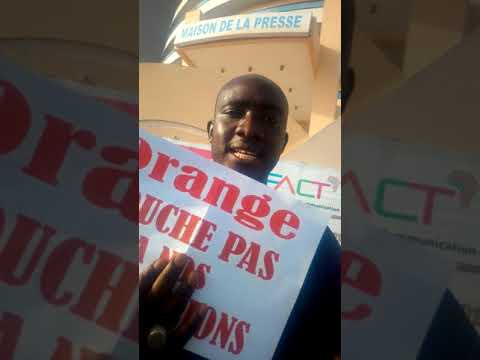 Conférance de presse.Journé boycote orange money 1