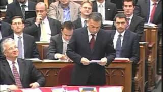 Gyurcsány-Orbán vita a Parlamentben.