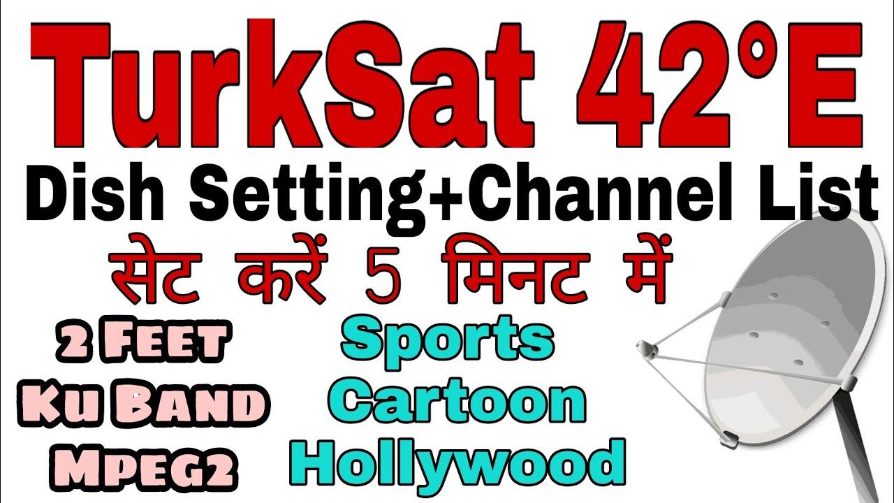 Turksat 42e dish setting and channel list| Lyngsat | Starsat| Turksat 42e  frequency