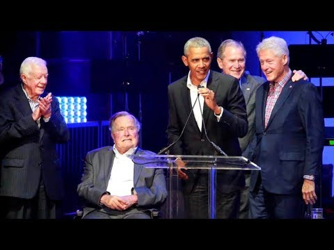 Five Former Presidents Appearing at Texas Hurricane Relief concert  Barack Obama, Bill Clinton, Geor