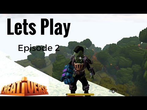 Creativerse- Lets Play Episode 2- Finding Mineral water and moving the base