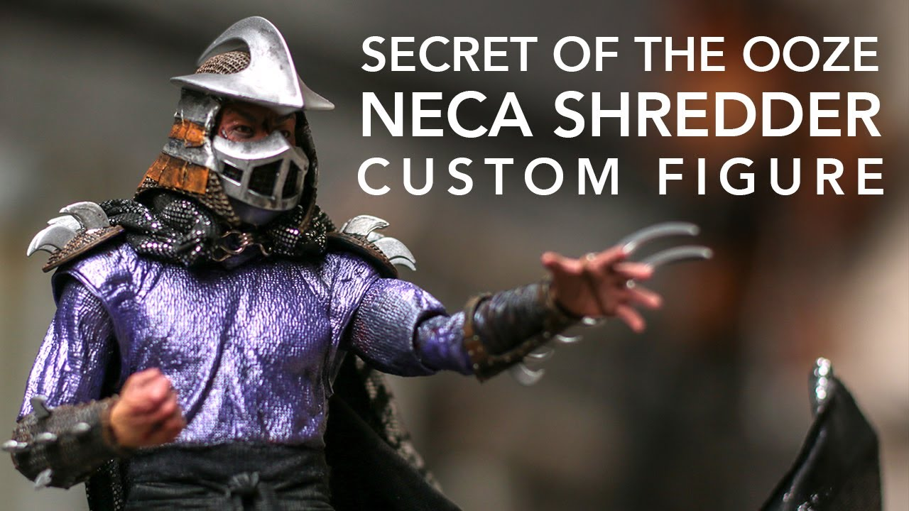 Shredder Secret Of The Ooze Custom Neca Action Figure Review