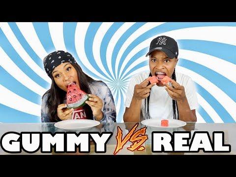 REAL FOOD VS. GUMMY FOOD!!