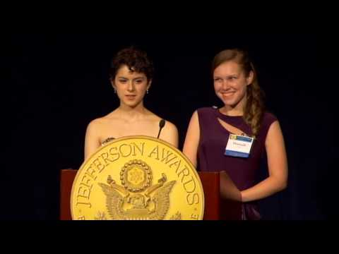 Jewish Students in Service at 2013 National Jefferson Awards in Washington, DC