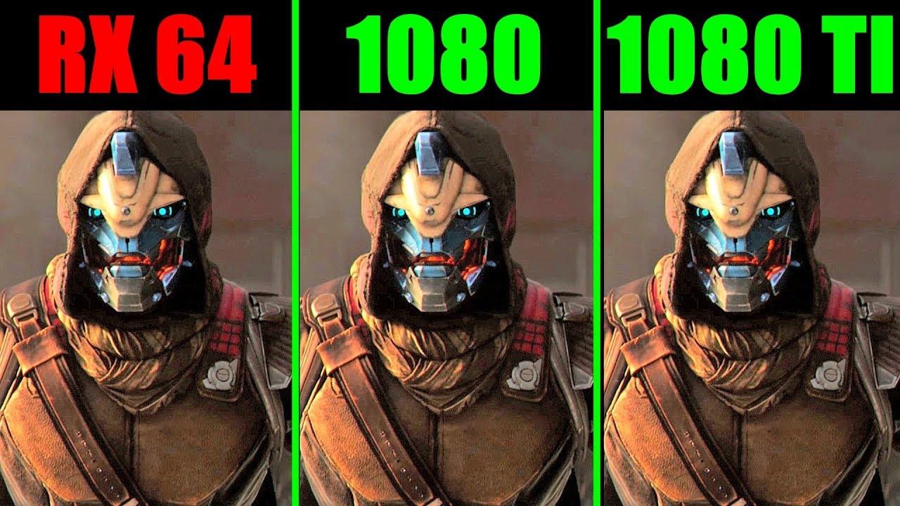 Destiny 2 Pc GTX 1080 TI Vs AMD RX Vega 64 Vs GTX 1080 1440p Frame Rate  Comparison