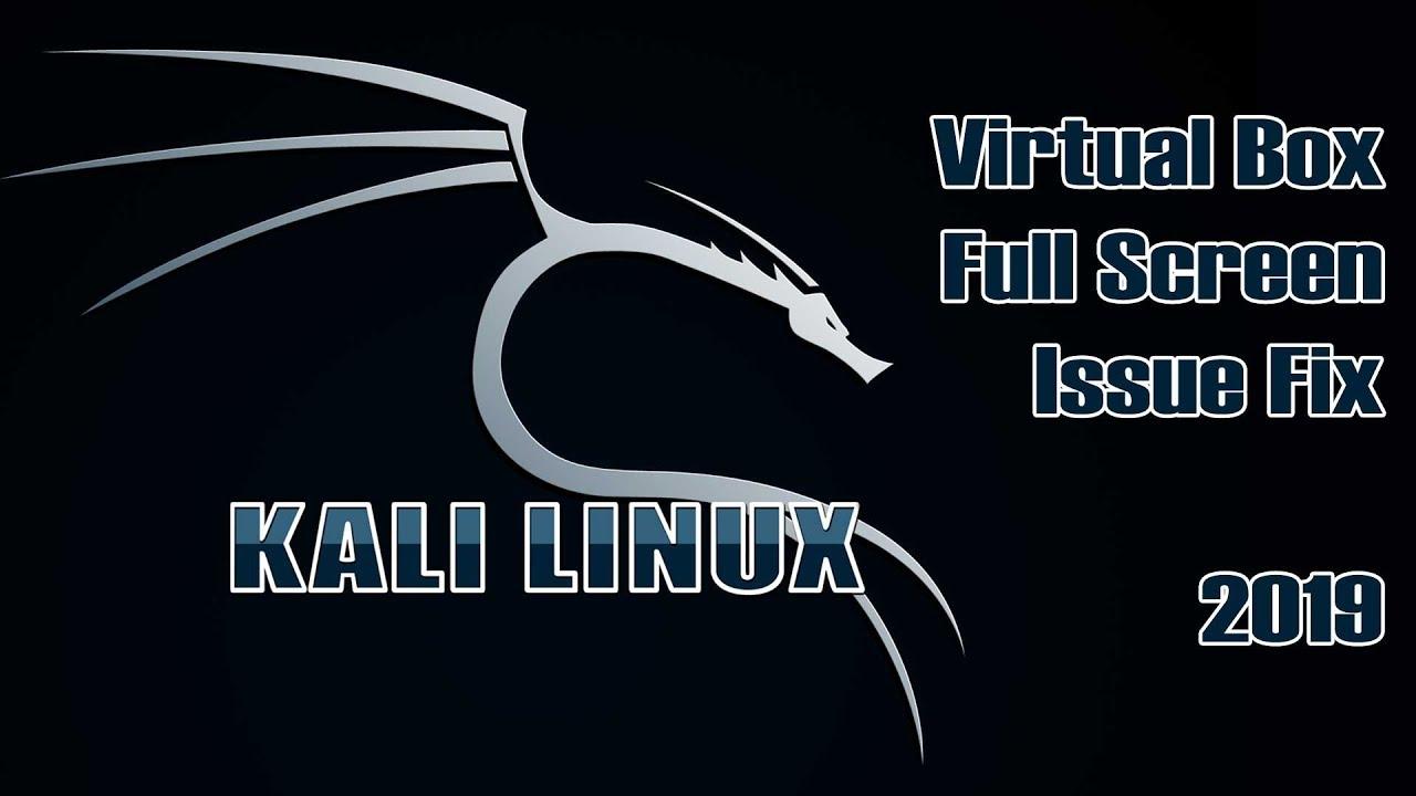 Kali Linux Virtual Box Full Screen Issue Fix 2019 | VBox Set Up