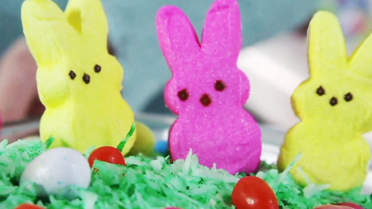 Easter Cake Decorated With Peeps