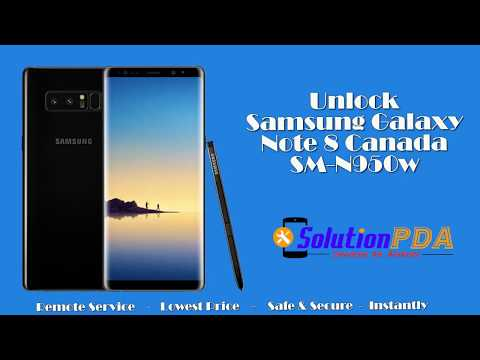Unlock Network Samsung Galaxy Note 8 N950W Canada Instant via USB Cable