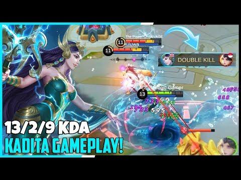 New Hero Kadita Full MVP Gameplay! | KDA 13/2/9 | Mobile Legends - Gameplay | MLBB