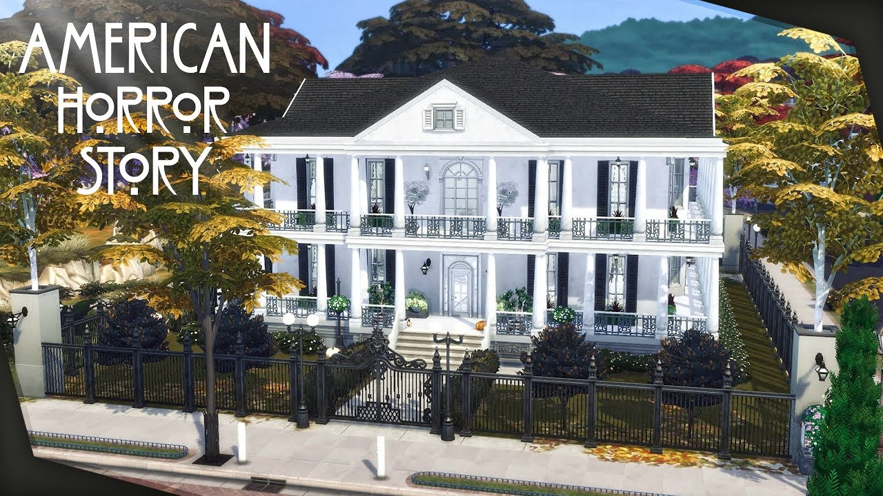 Ahs Coven House Ft Maidensims The Sims 4 Speed Build Youtube