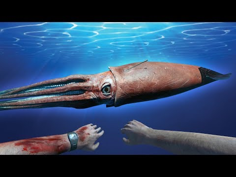 Giant Squid Emerges From The Deep! - Stranded Deep - Giant Squid Mission