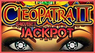 ⭐️HIGH LIMIT Cleopatra 2 BIG HANDPAY JACKPOT  ⭐️$40 MAX BET BONUS ROUND Cleo 2 Slot Machine Casino