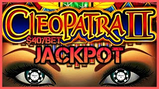 ⭐️HIGH LIMIT Cleopatra 2 BÏG HANDPAY JACKPOT ⭐️$40 MAX BET BONUS ROUND Cleo 2 Slot Machine Casino