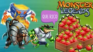 Como generar comida en monster legends para principiantes