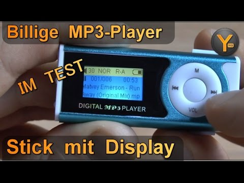 Billig MP3 Player im Test: Mini Stick mit Display für 3,50€ / microSD bis 8GB / MP3 WMA WAV