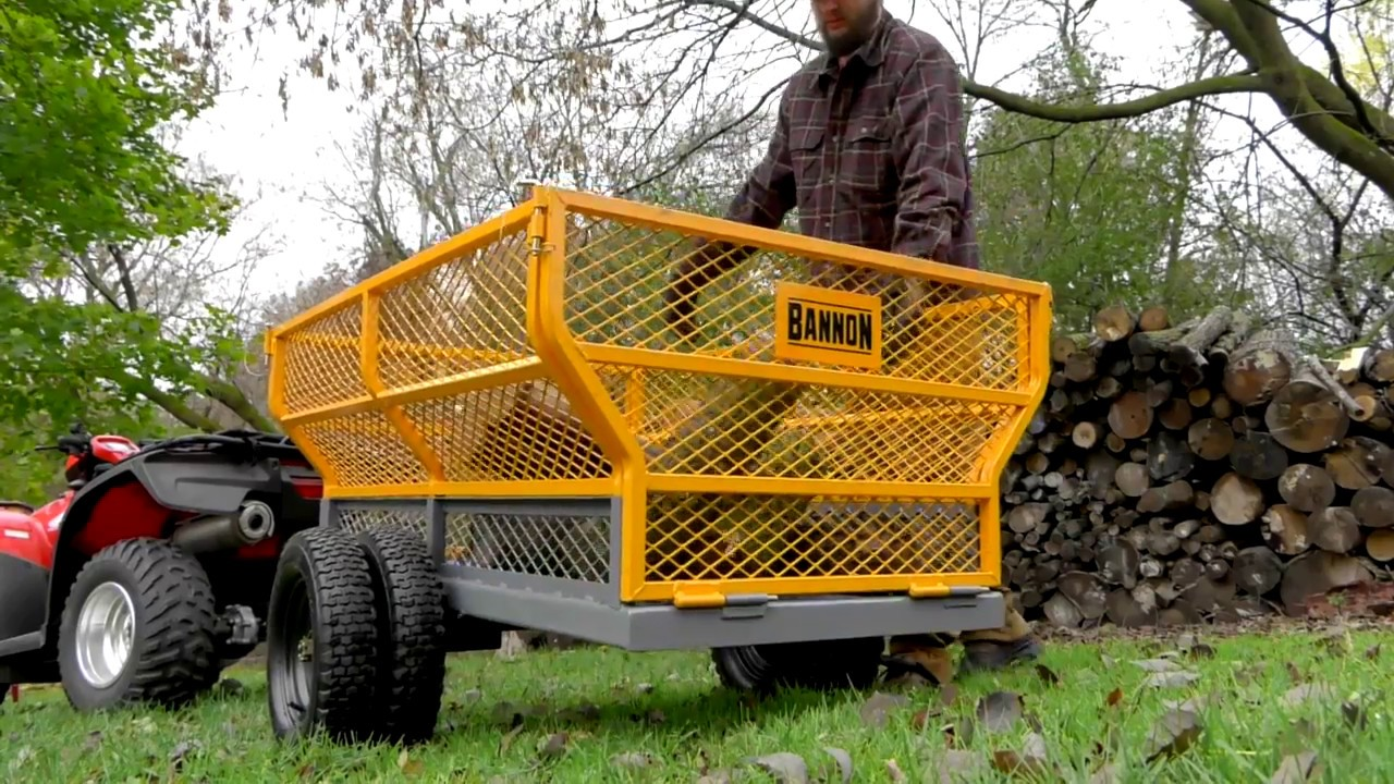 Bannon Utility Trailer 1400-Lb. Capacity 24 Cu. Ft. - YouTube