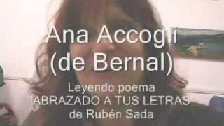 Ana Accogli - Abrazado a tus letras - Poema de Rubén Sada