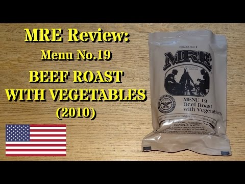 MRE Review: Menu 19 Beef Roast with Vegetables (With Guest Reviewer Mrs. gschultz9!)