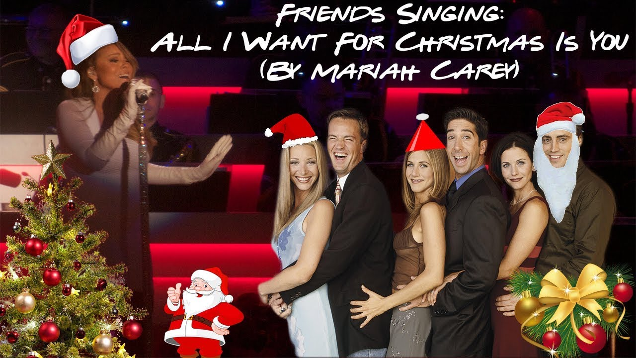 This Christmas Cast.Cast Of Friends Singing All I Want For Christmas Is You By Mariah Carey