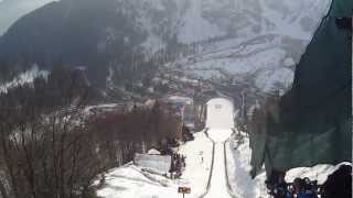 Helmet camera WORLD RECORD SKI JUMP: Jurij Tepes Planica 2013
