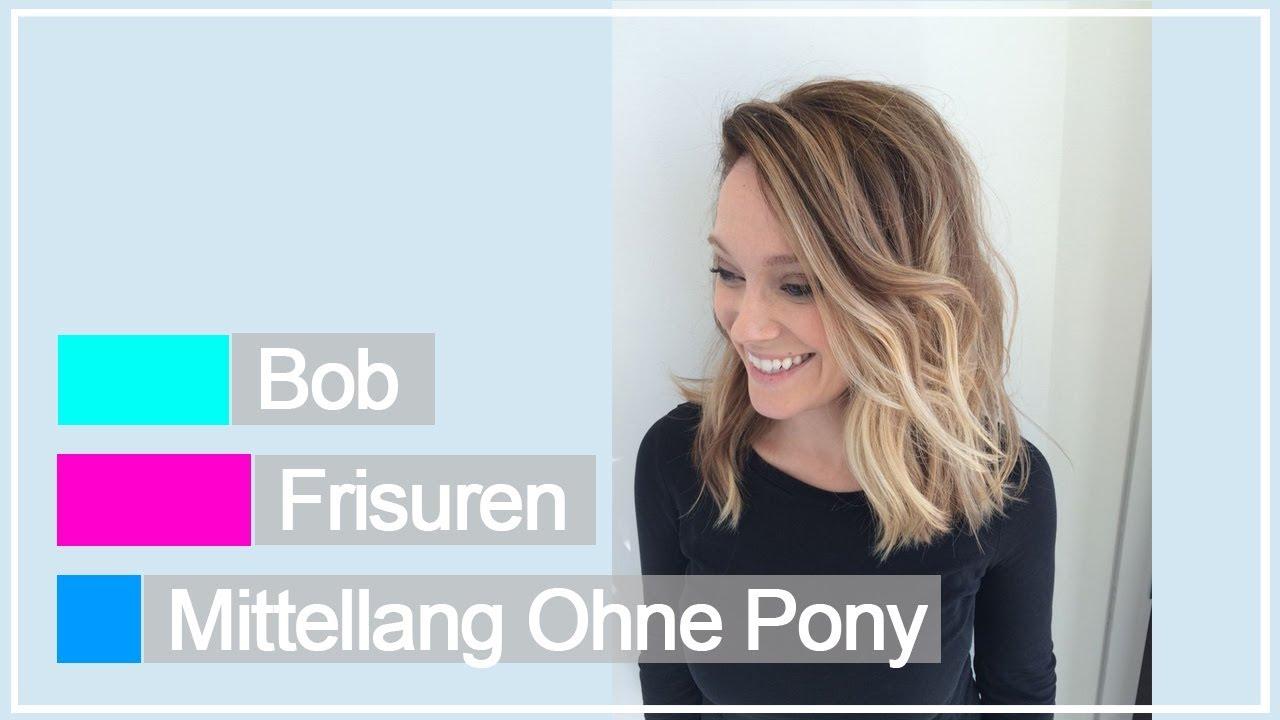 Bob Frisuren Mittellang Ohne Pony Youtube