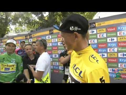 Another funny moment between Peter Sagan and Chris Froome - Tour de France 2015