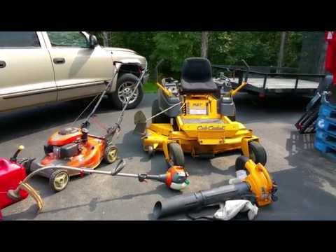 Basic equipment for starting a lawn care business and upgrades