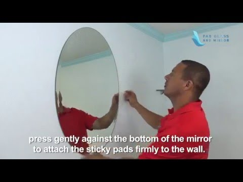 Oval Frameless Wall Mirror Installation   Fab Glass And Mirror   YouTube