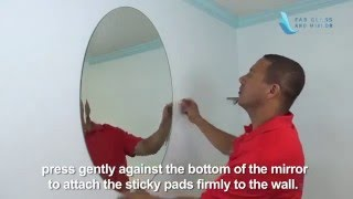 Oval Frameless Wall Mirror Installation - Fab Glass and Mirror