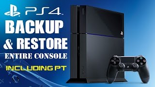 How to Backup PS4 Hard Drive and Restore PS4 Video Games Downloads such as PT