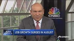 Job growth surges in August