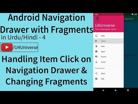 Navigation Drawer With Fragments-4 | Handling Navigation Drawer Item Click & Changing Fragments
