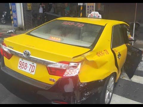 計程車988-7D號違規搶快左轉釀車禍