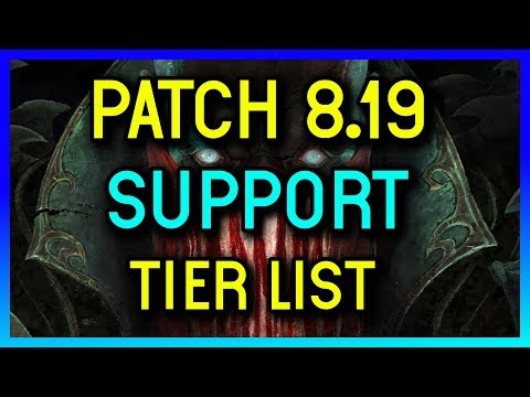 PATCH 8.19 TIER LIST FOR SUPPORT - League of Legends