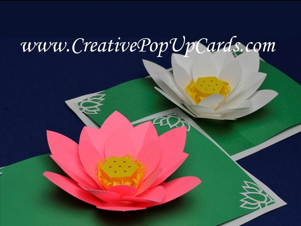 Amazing Mother S Day Lotus Flower Pop Up Card Youtube