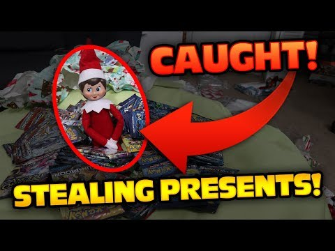 CAUGHT Elf on the Shelf OPENING ALL of our Early Pokemon Christmas Presents!!