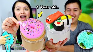 Turn this 1 year Old Slime into a Jumbo New Slime Challenge!
